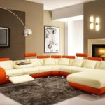 wide-open-living-room-using-brilliant-home-improvement-ideas-with-modern-sofa-chaise-and-arc-lamp